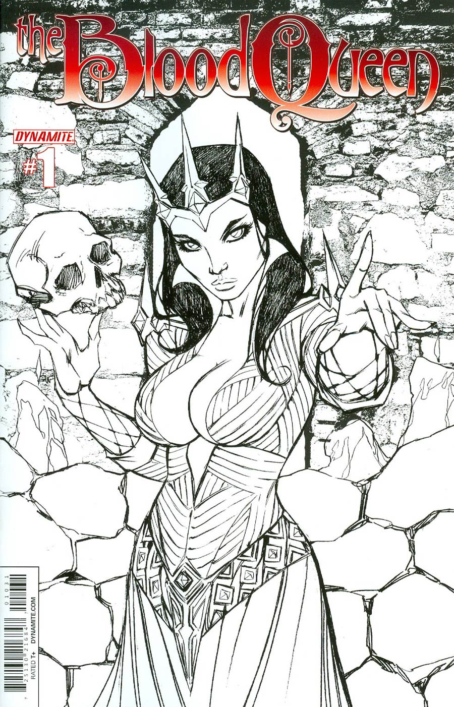 Blood Queen #1 Cover H Incentive Ale Garza Black & White Cover