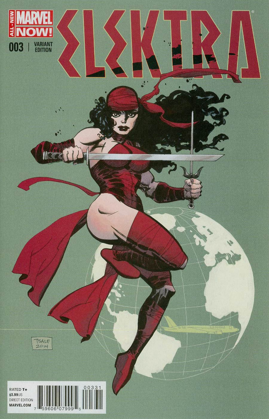 Elektra Vol 3 #3 Cover C Incentive Tim Sale Variant Cover