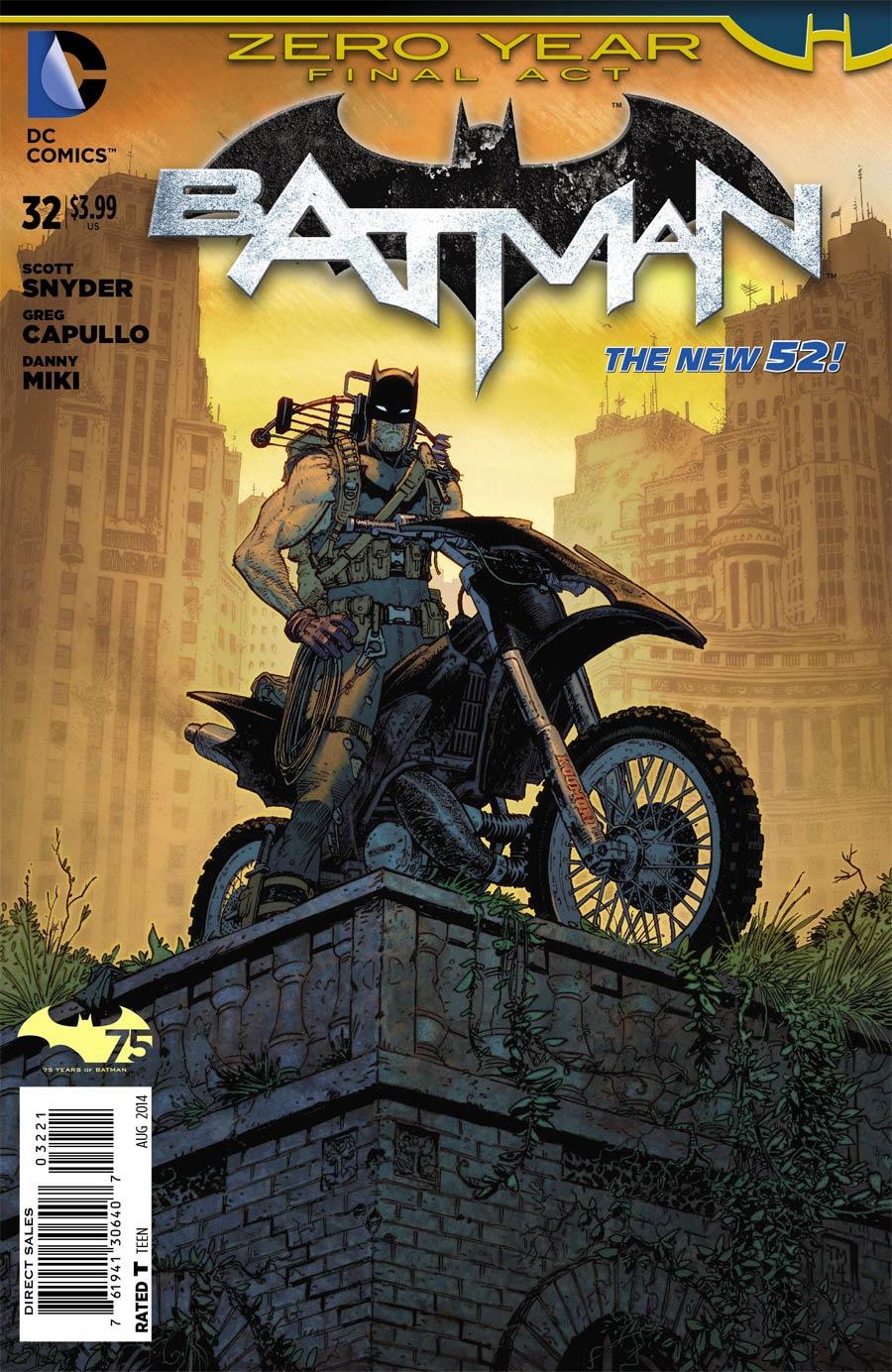 Batman Vol 2 #32 Cover E Incentive Tony Moore Variant Cover (Zero Year Tie-In)