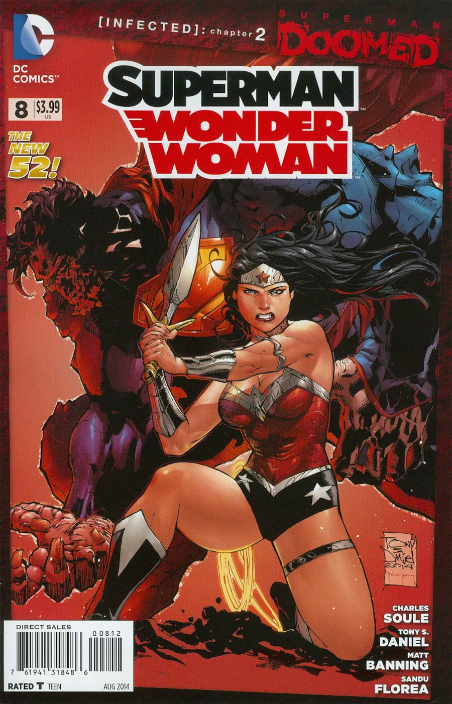 Superman Wonder Woman #8 Cover E 2nd Ptg Tony S Daniel Variant Cover (Superman Doomed Tie-In)