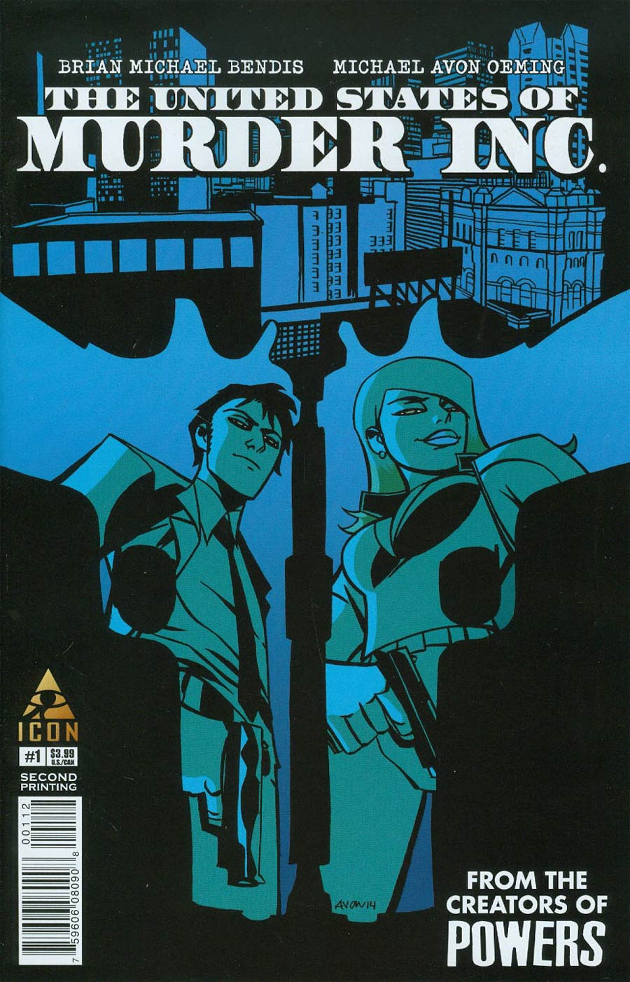 United States Of Murder Inc #1 Cover E 2nd Ptg Michael Avon Oeming Variant Cover