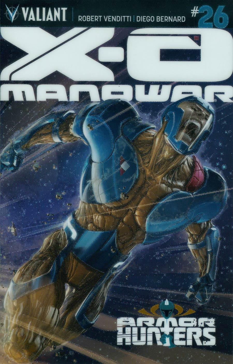 X-O Manowar Vol 3 #26 Cover C Variant Clayron Crain Chromium Cover (Armor Hunters Tie-In)