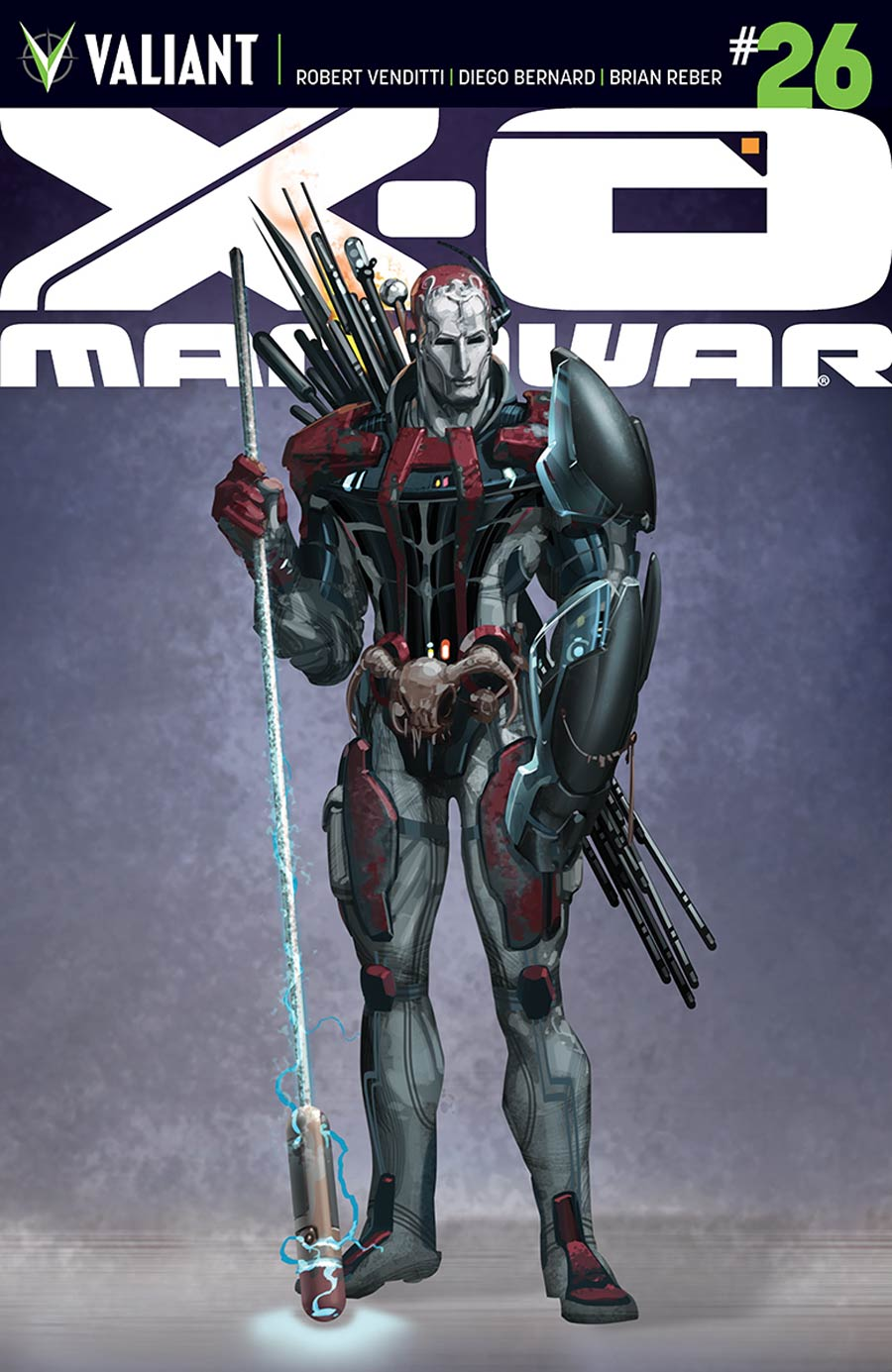X-O Manowar Vol 3 #26 Cover D Incentive Clayton Crain Design Variant Cover (Armor Hunters Tie-In)