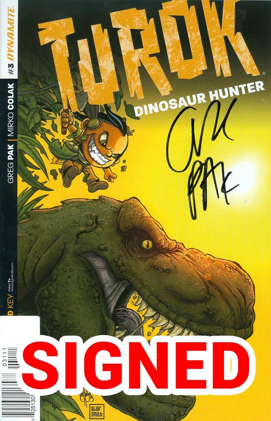 Turok Dinosaur Hunter Vol 2 #3 Cover F Incentive Ken Haeser Lil Turok Variant Cover Signed By Greg Pak