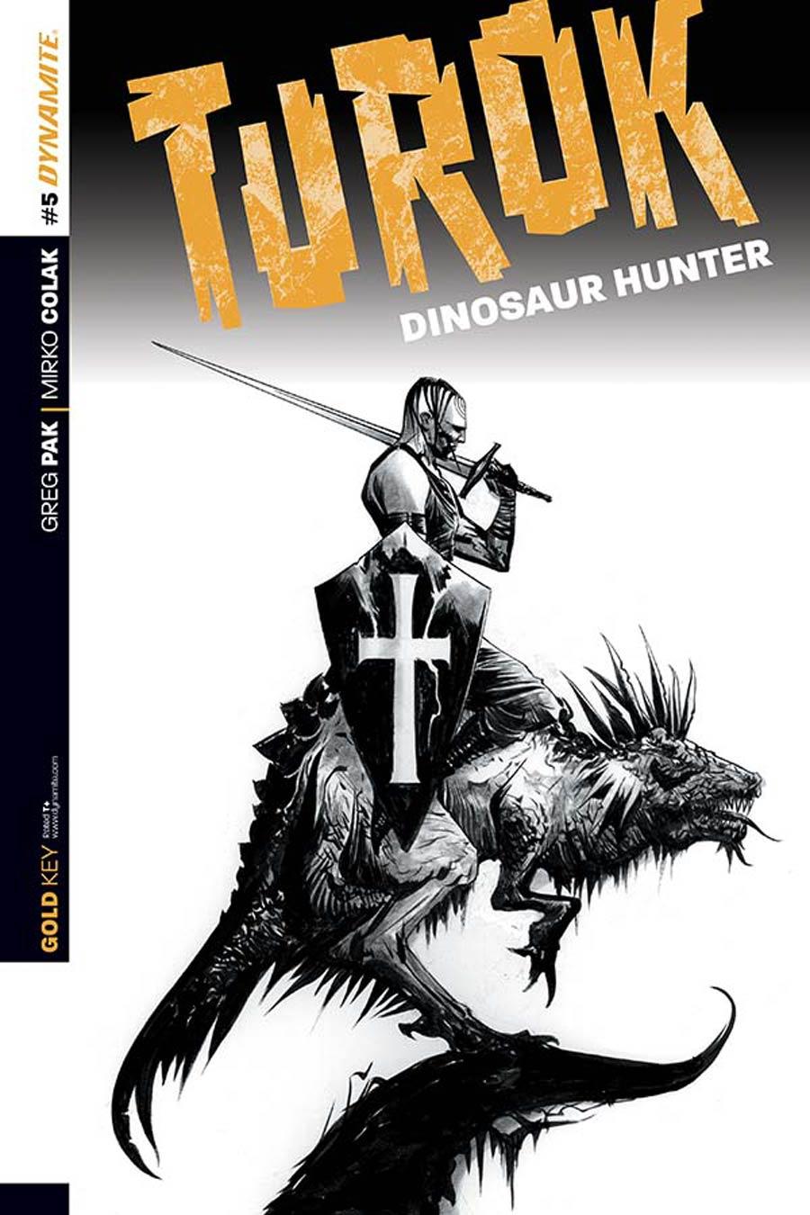 Turok Dinosaur Hunter Vol 2 #5 Cover D Incentive Jae Lee Black & White Cover