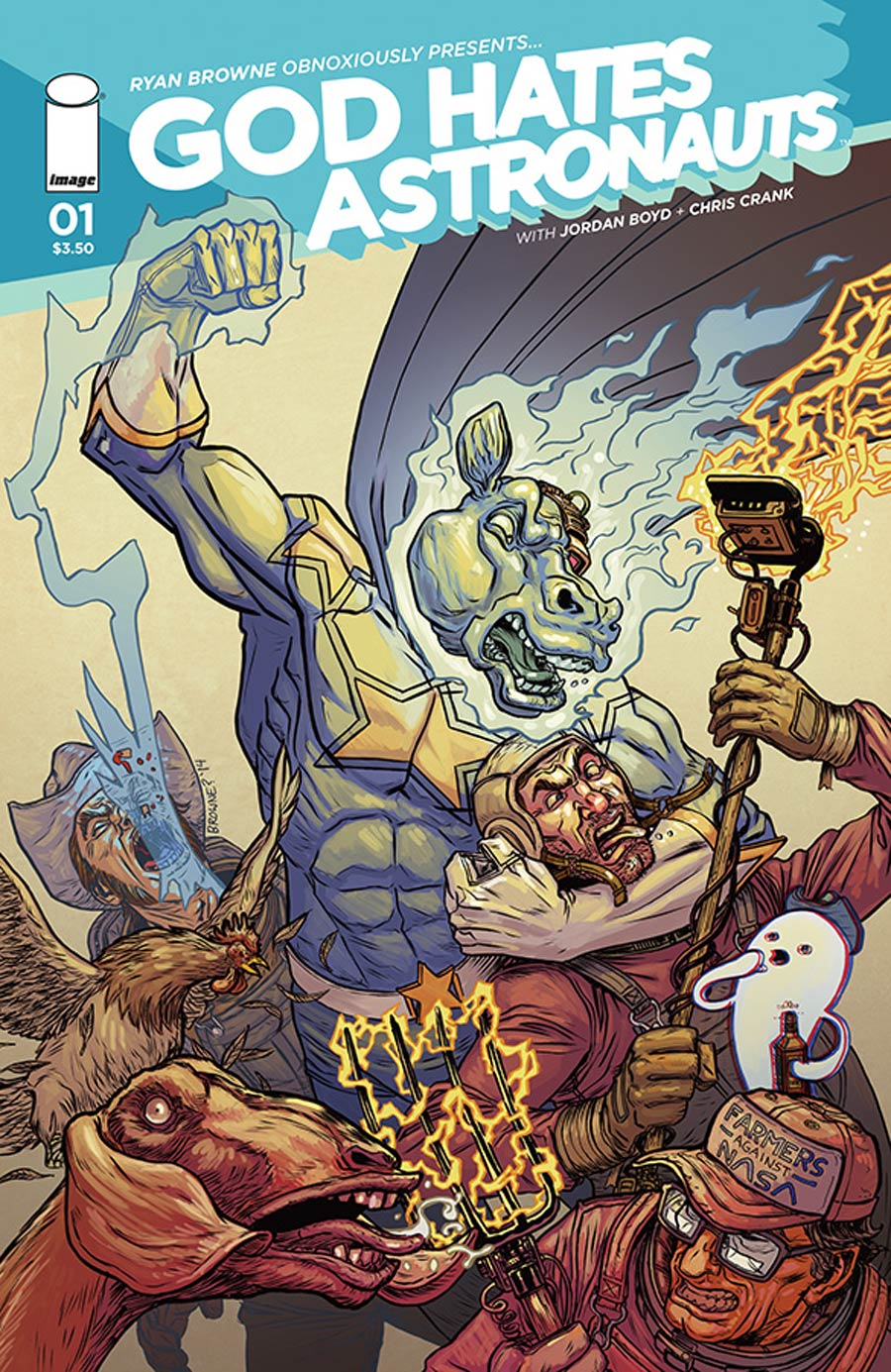God Hates Astronauts #1 Cover A 1st Ptg Regular Ryan Browne Cover