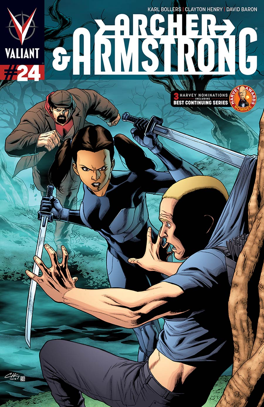 Archer & Armstrong Vol 2 #24 Cover A Regular Clayton Henry Cover