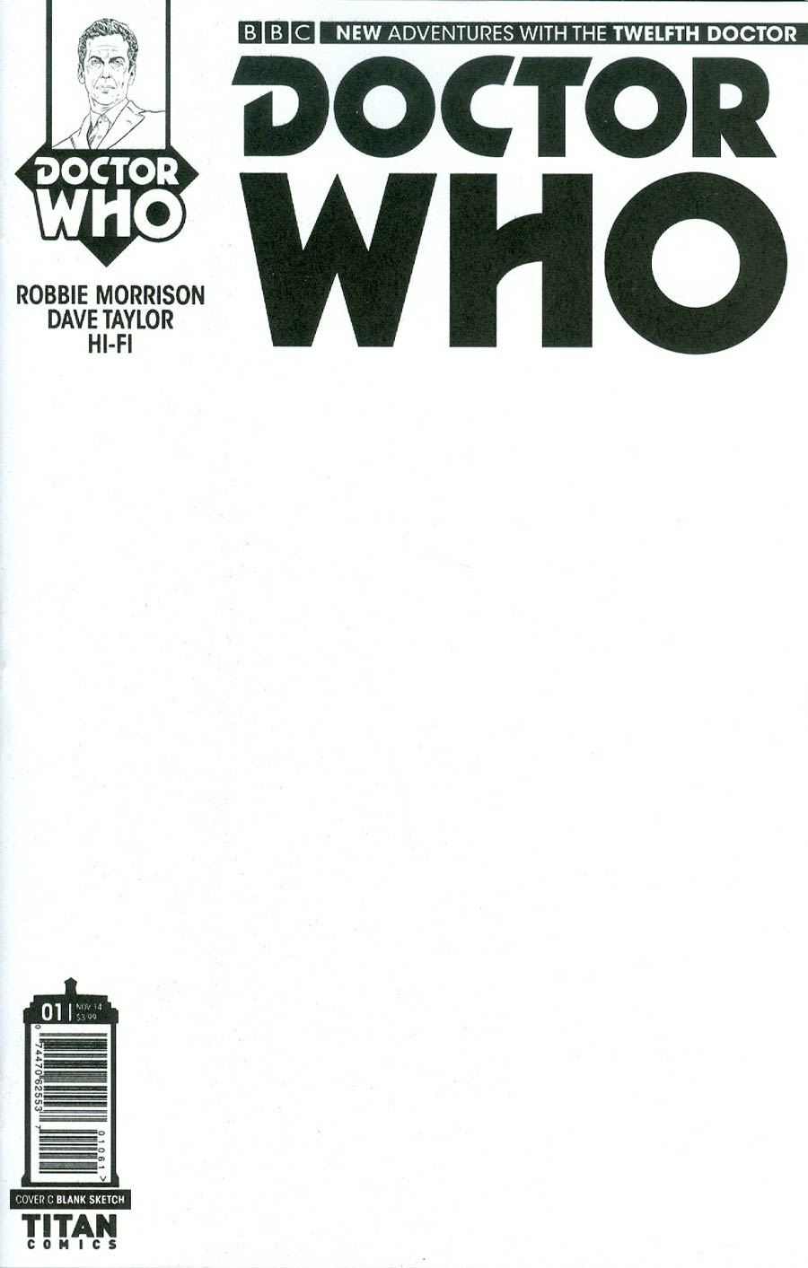 Doctor Who 12th Doctor #1 Cover D Variant Blank Cover
