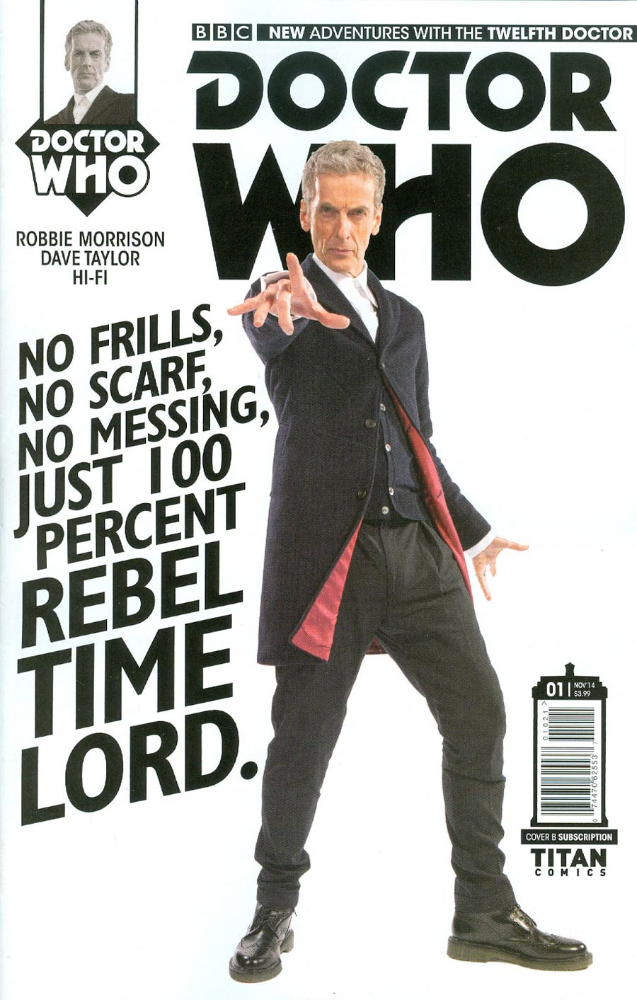Doctor Who 12th Doctor #1 Cover C Variant Photo Subscription Cover