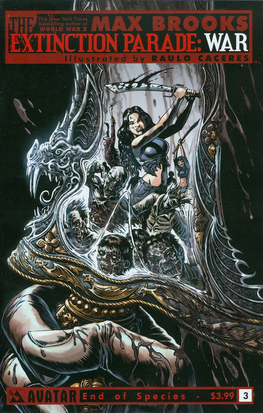Extinction Parade War #3 Cover C End Of A Species Cover