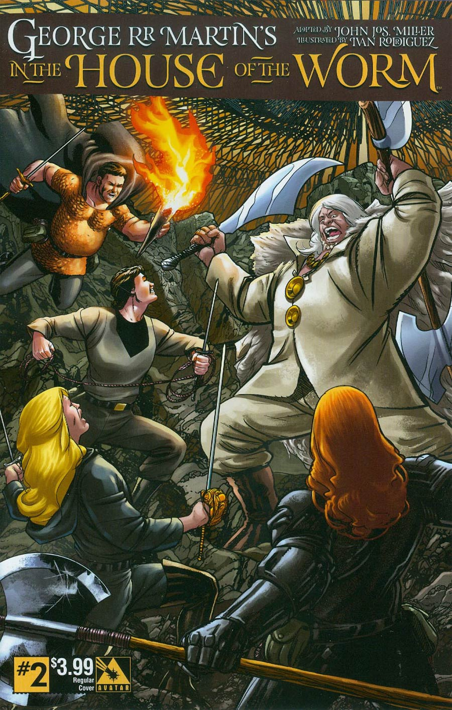 George RR Martin In The House Of The Worm #2 Cover A Regular Cover