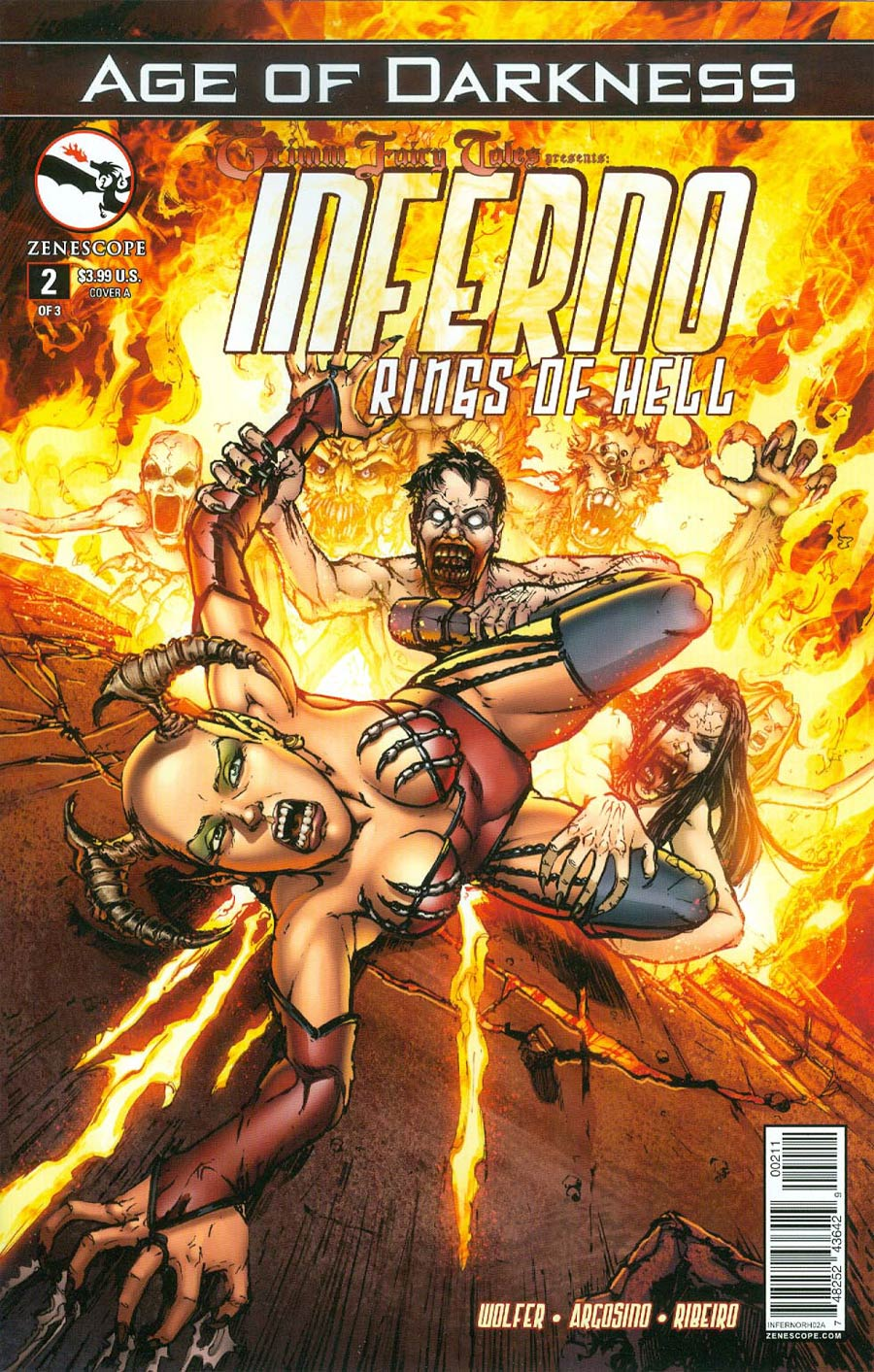 Grimm Fairy Tales Presents Inferno Rings Of Hell #2 Cover A Daniel Leister (Age Of Darkness Tie-In)