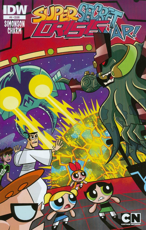 Cartoon Network Super Secret Crisis War #4 Cover A Regular Derek Charm Cover