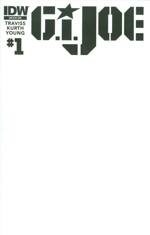GI Joe Vol 7 #1 Cover B Variant Special Order Blank Cover