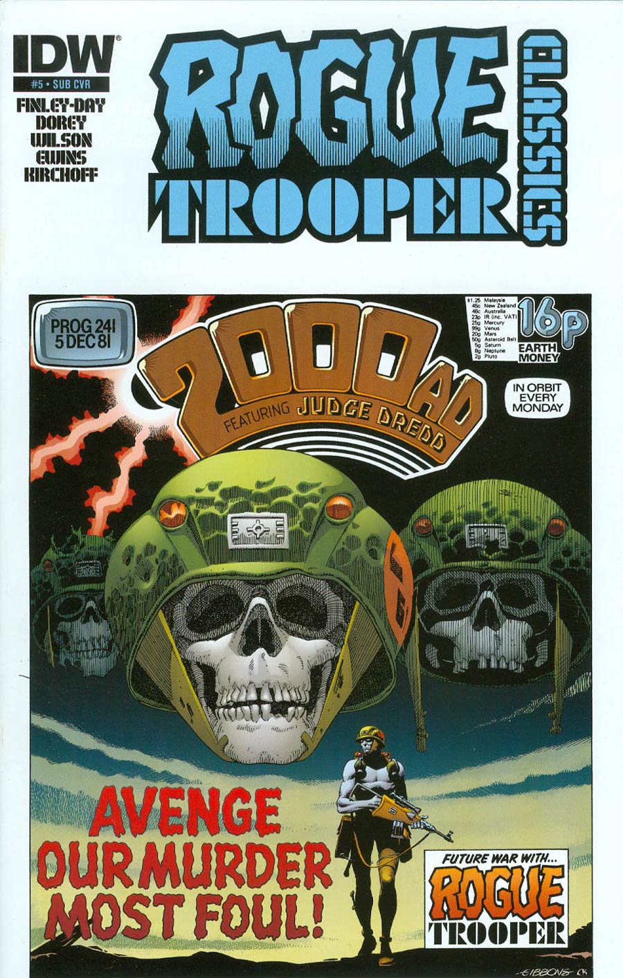 Rogue Trooper Classics #5 Cover B Variant Dave Gibbons Subscription Cover
