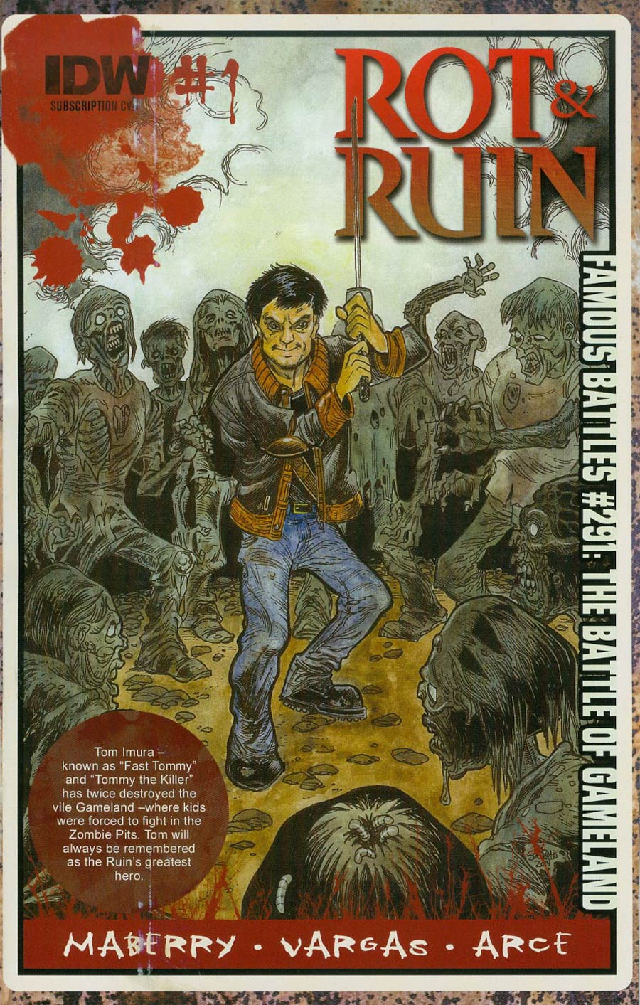 Rot & Ruin #1 Cover B Variant Robert Sacchetto Subscription Cover