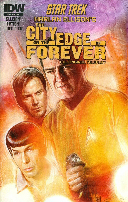 Star Trek Harlan Ellisons City On The Edge Of Forever Original Teleplay #4 Cover B Variant Paul Shipper Subscription Cover