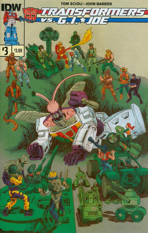 Transformers vs GI Joe #3 Cover A Regular Tom Scioli Cover