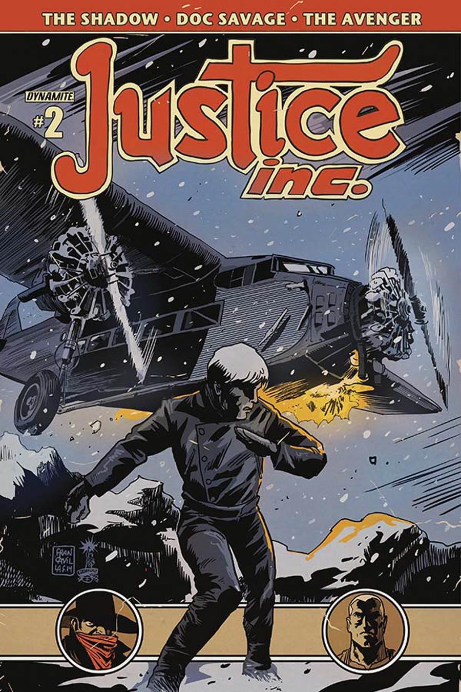 Justice Inc Vol 3 #2 Cover B Variant Francesco Francavilla Cover