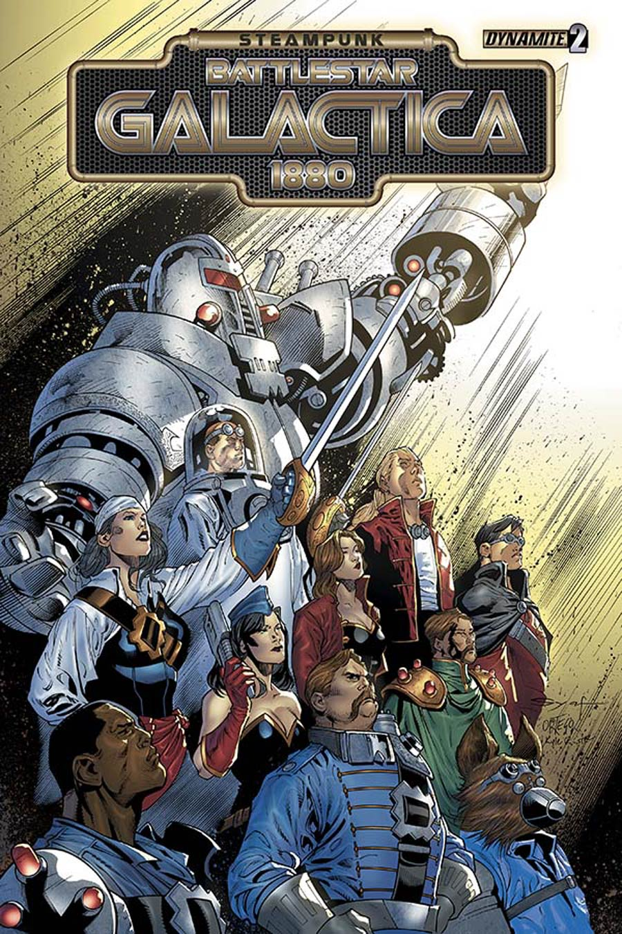 Steampunk Battlestar Galactica 1880 #2 Cover A Regular Ardian Syaf Cover