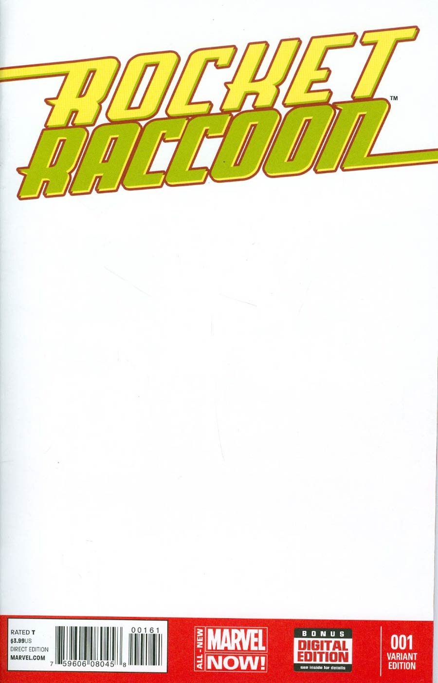 Rocket Raccoon Vol 2 #1 Cover D Variant Blank Cover