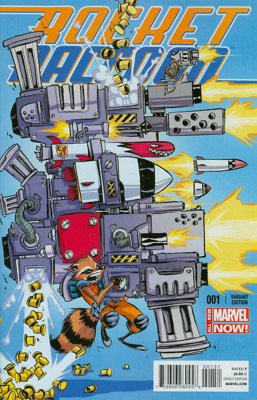 Rocket Raccoon Vol 2 #1 Cover E Variant Skottie Young Baby Cover