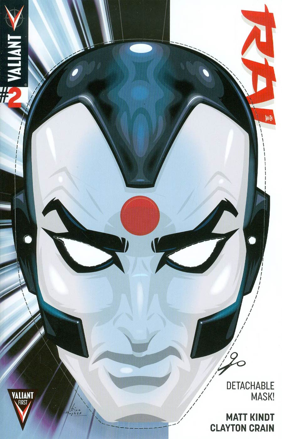 Rai Vol 2 #2 Cover C Variant Rian Hughes Mask Cover