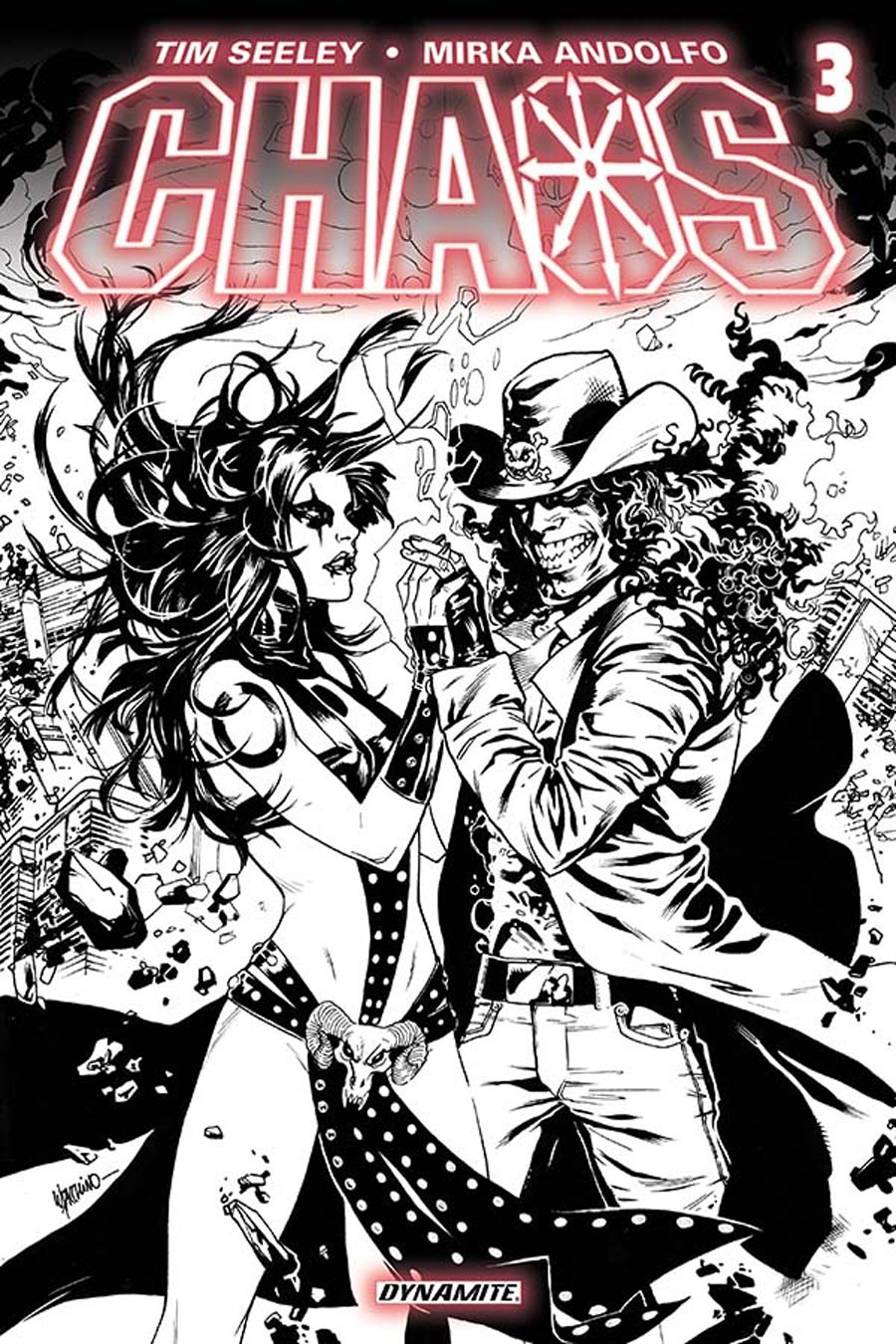 Chaos #3 Cover E Incentive Emanuela Lupacchino Black & White Line Art Cover