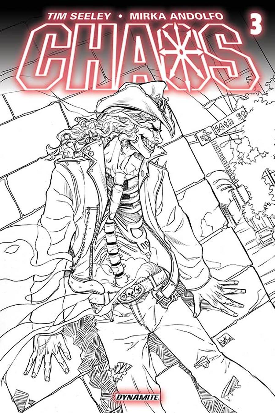 Chaos #3 Cover F Incentive Nei Ruffino Black & White Line Art Cover