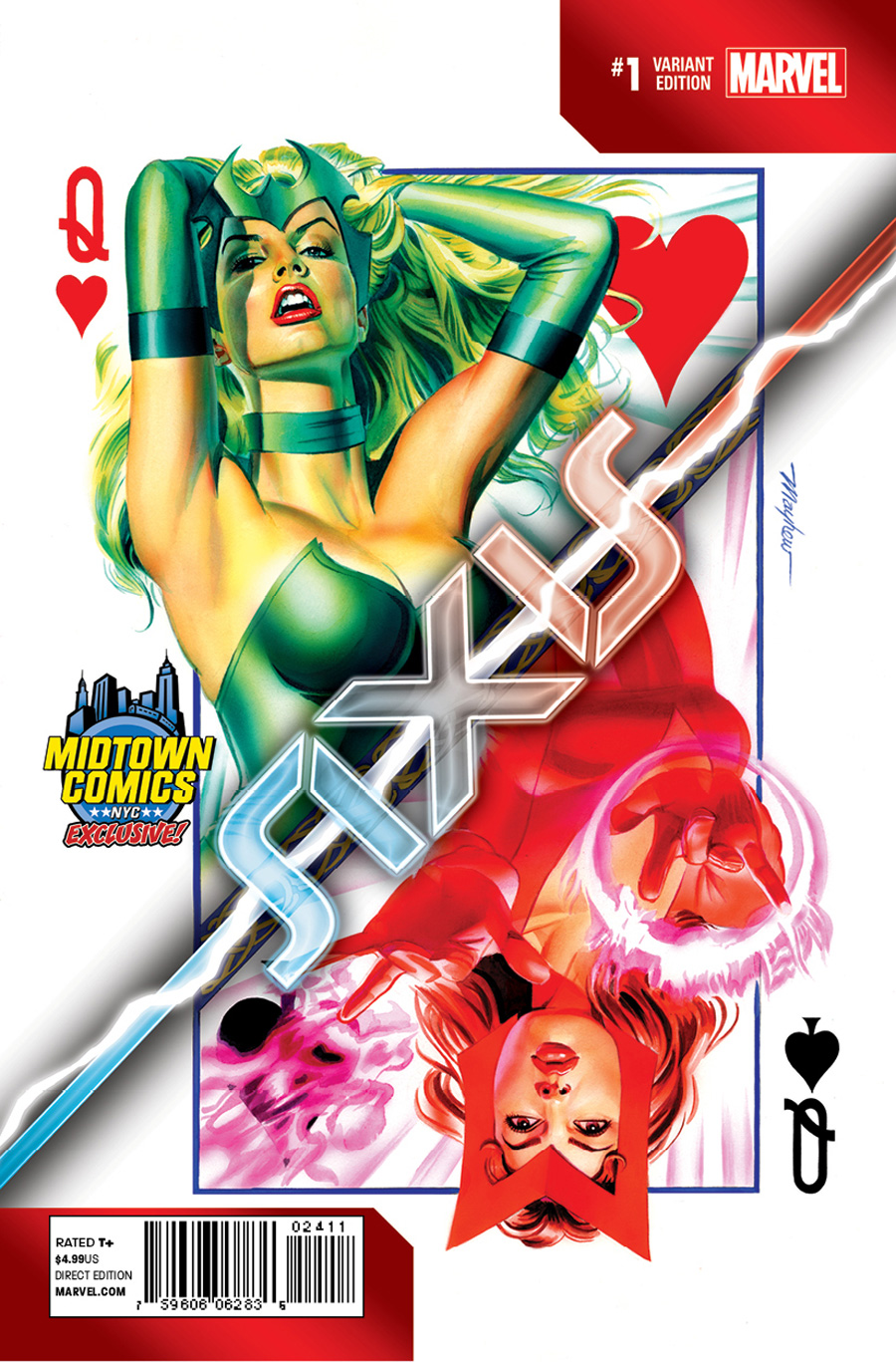 Avengers & X-Men AXIS #1 Cover B Midtown Exclusive Mike Mayhew Variant Cover