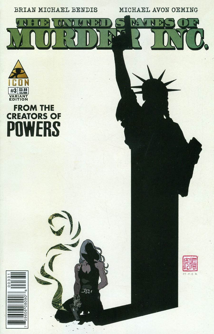 United States Of Murder Inc #3 Cover B Incentive David Mack Variant Cover