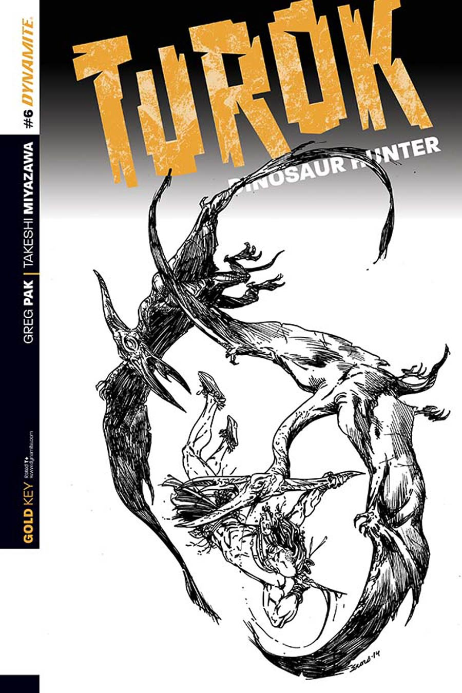 Turok Dinosaur Hunter Vol 2 #6 Cover C Incentive Bart Sears Black & White Cover