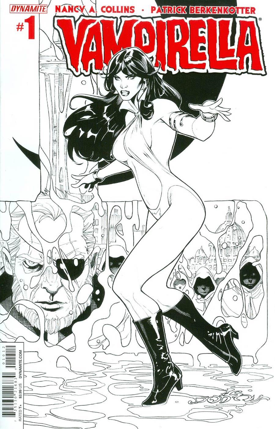 Vampirella Vol 5 #1 Cover S 2nd Ptg Terry Dodson Black & White Variant Cover