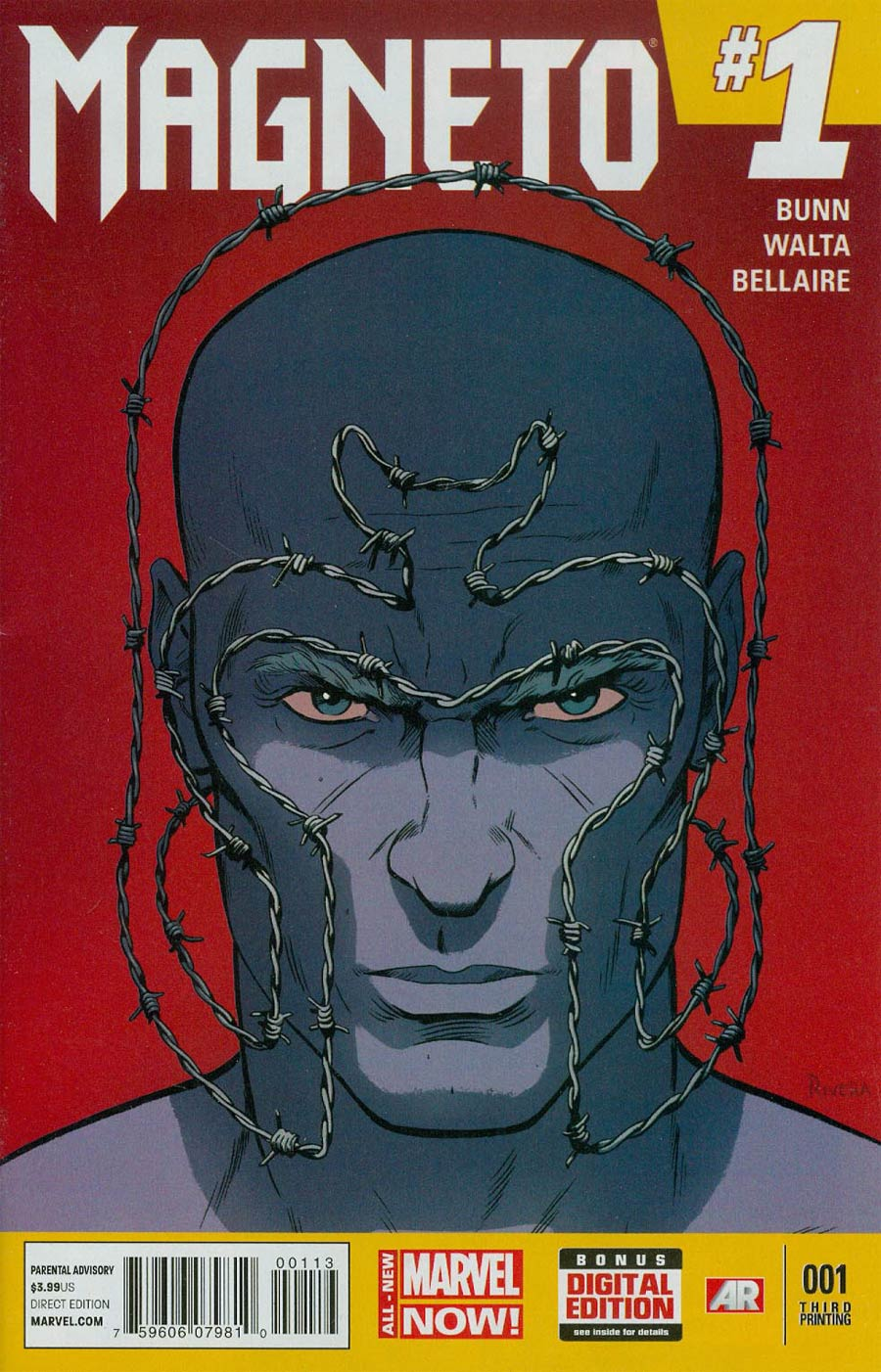 Magneto Vol 3 #1 Cover H 3rd Ptg Paolo Rivera Variant Cover