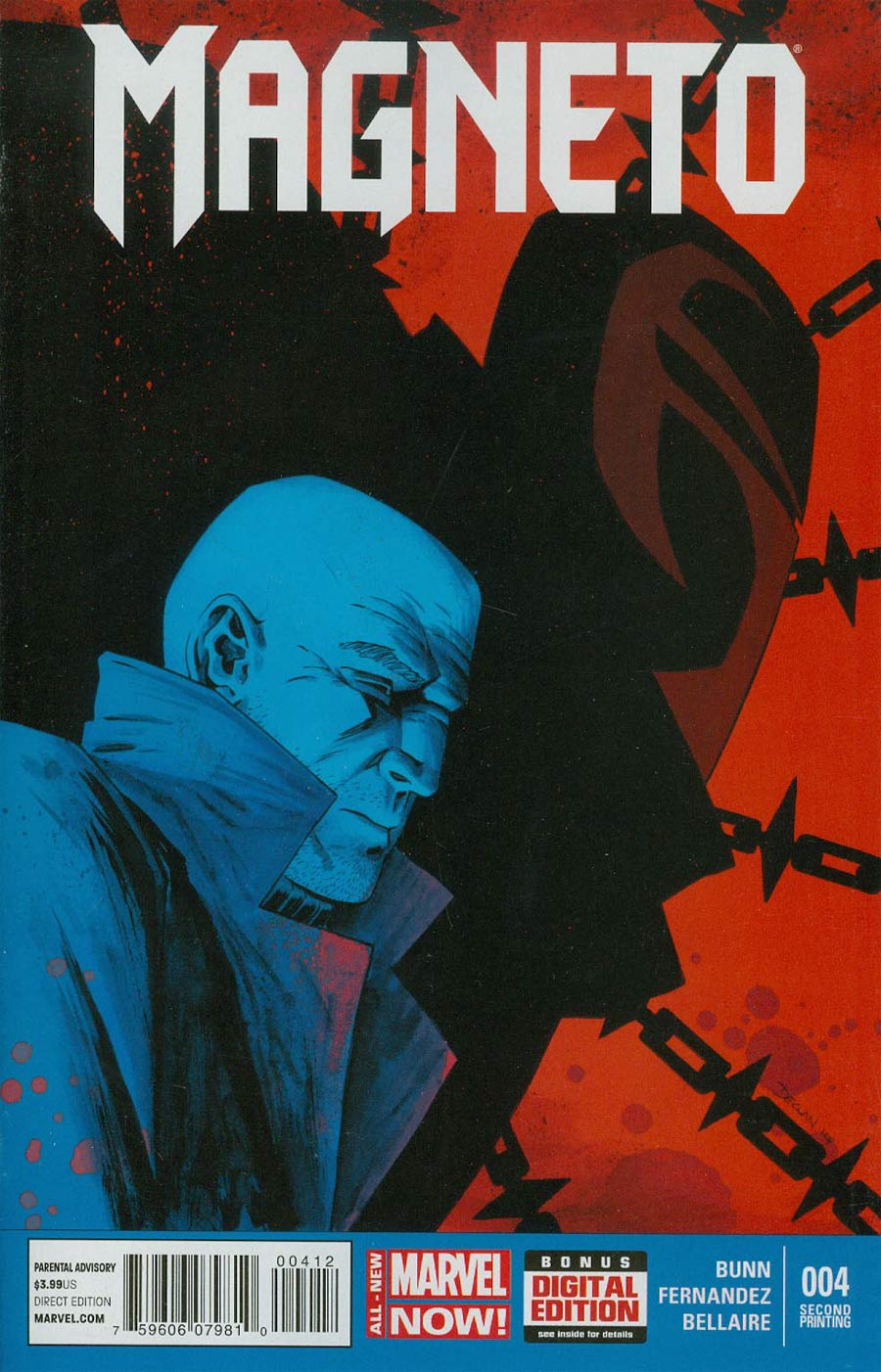 Magneto Vol 3 #4 Cover B 2nd Ptg Declan Shalvey Variant Cover