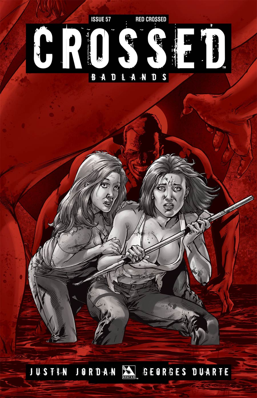 Crossed Badlands #57 Cover E Incentive Red Crossed Edition