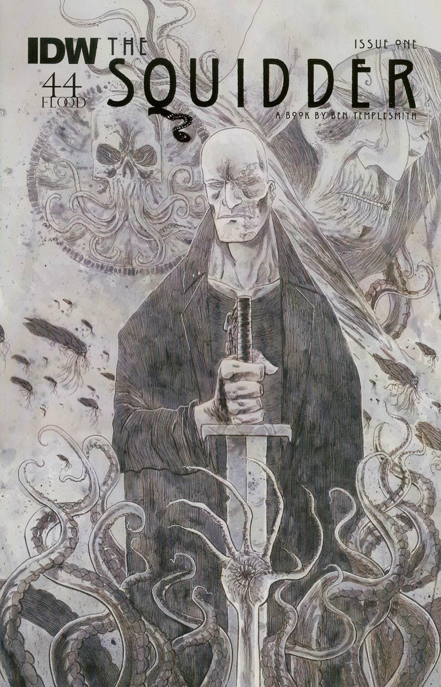 Squidder #1 Cover C Incentive Ben Templesmith Grayscale Cover