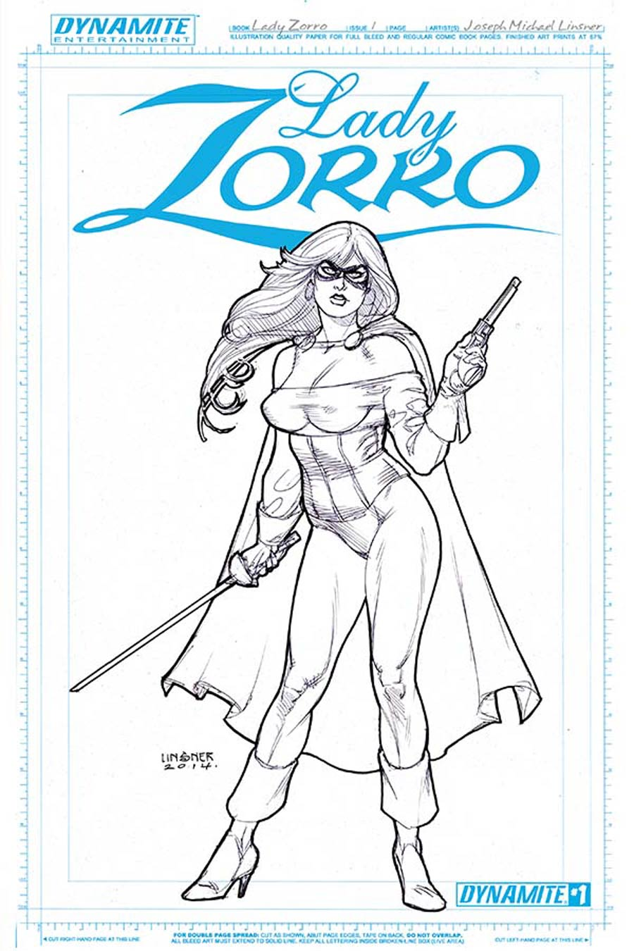 Lady Zorro #1 Cover D Incentive Joseph Michael Linsner Art Board Cover