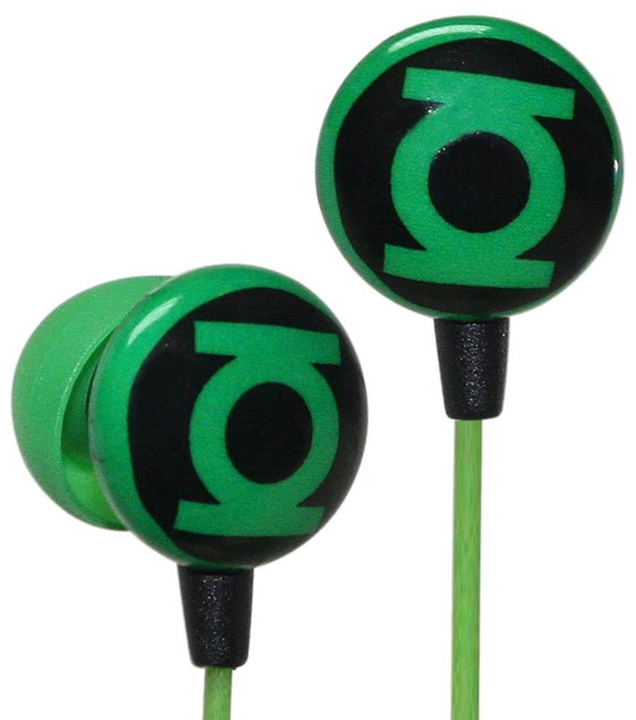 DC Comics Printed Ear Buds - Green Lantern Logo