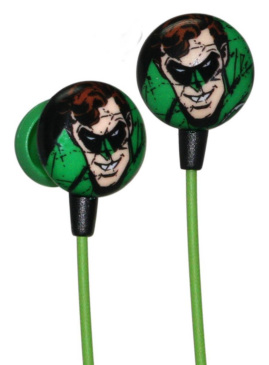 DC Comics Printed Ear Buds - Green Lantern Face