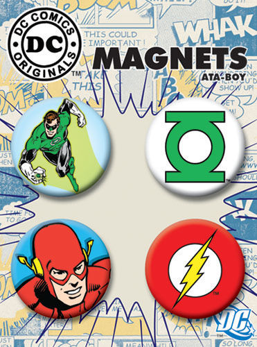 DC Comics 1.25-inch Round Magnet - Green Lantern Flash Character and Logos (40089RM4)