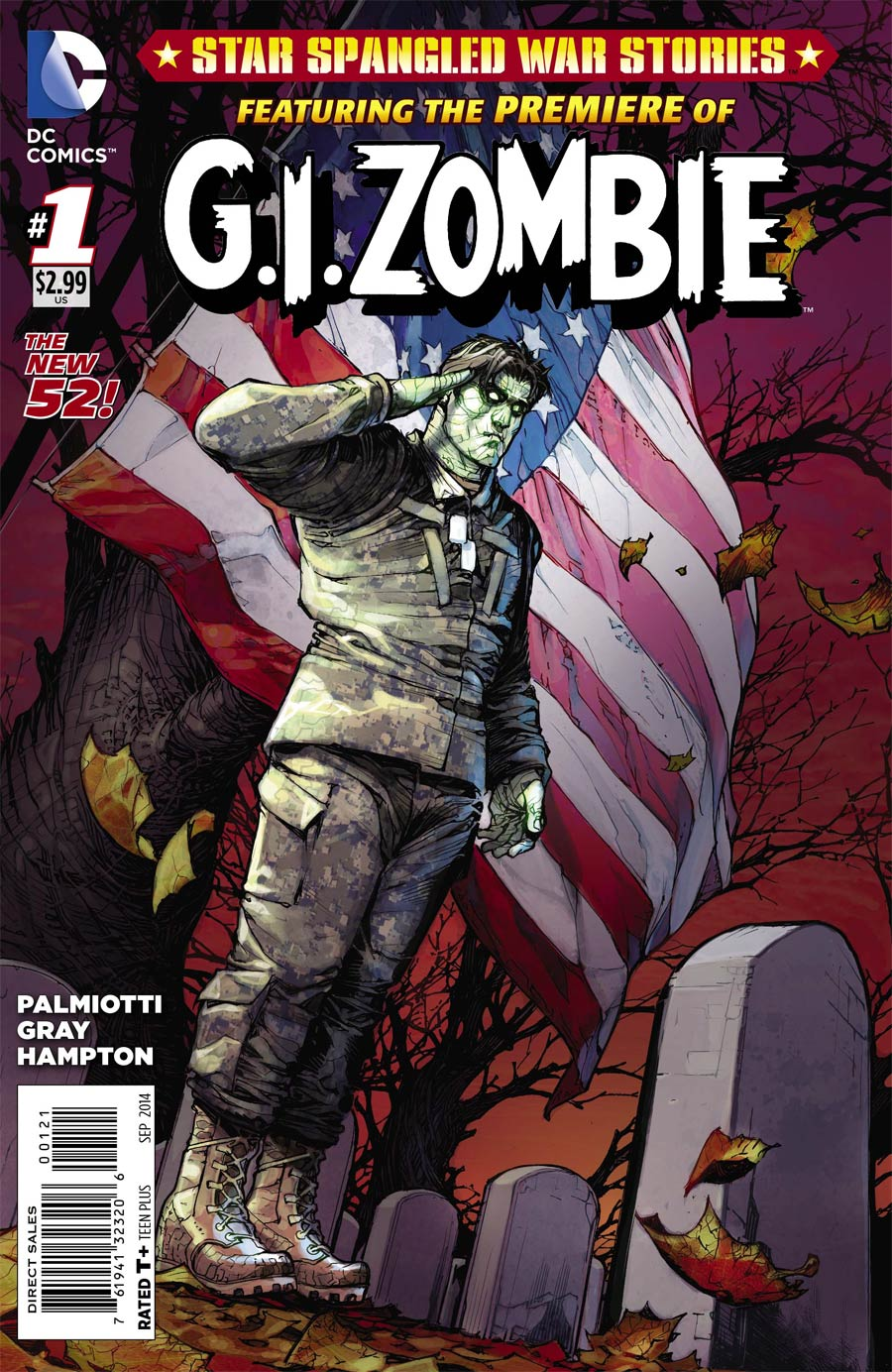 Star-Spangled War Stories Featuring GI Zombie #1 Incentive Darwyn Cooke Variant Cover