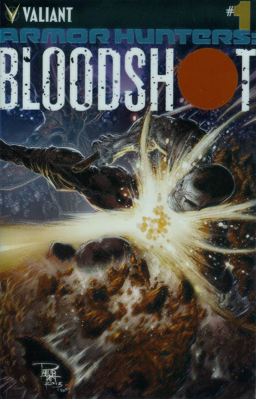 Armor Hunters Bloodshot #1 Cover B Variant Philip Tan Chromium Cover