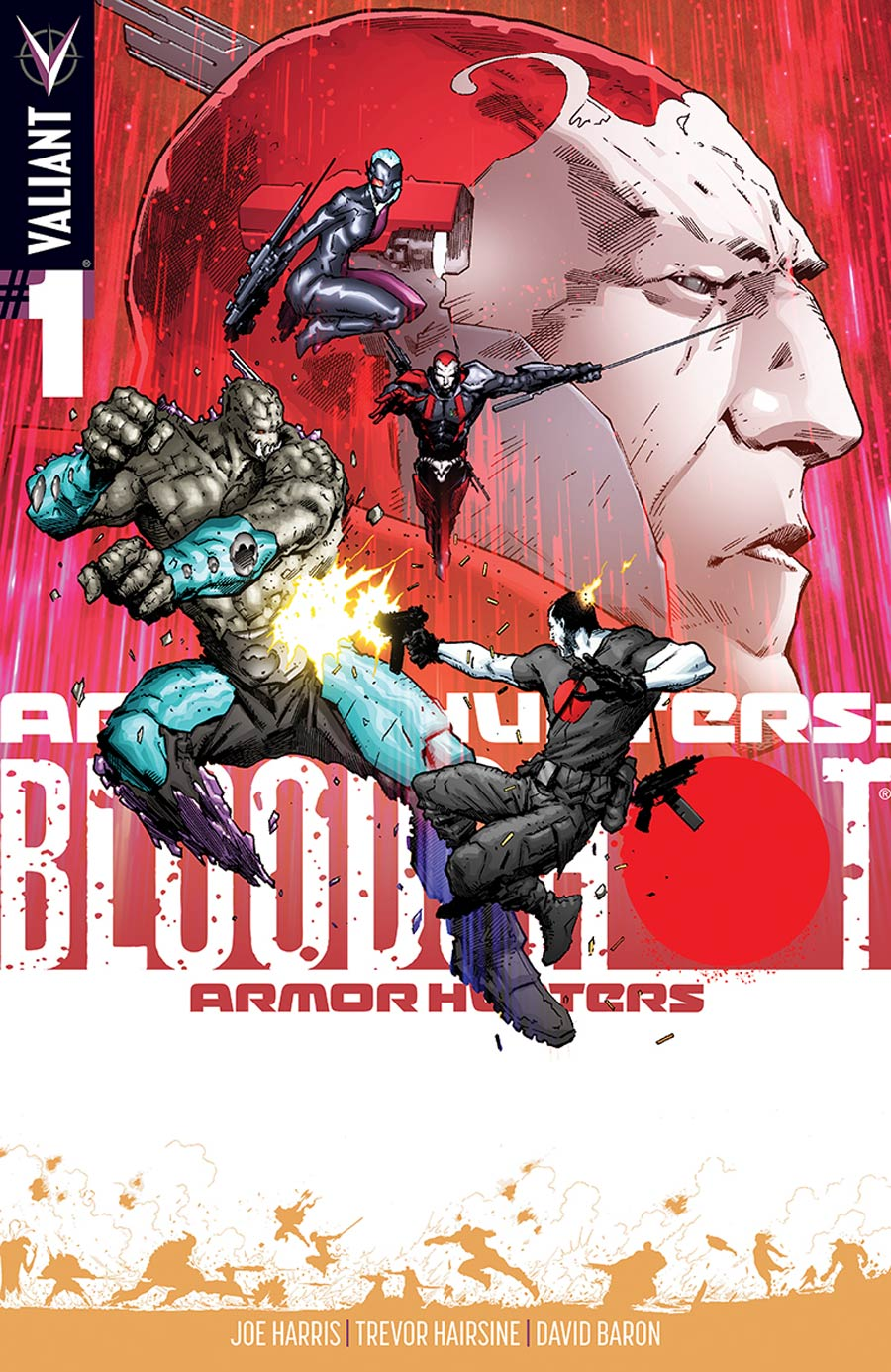 Armor Hunters Bloodshot #1 Cover E Incentive Trevor Hairsine Armor Hunters Variant Cover