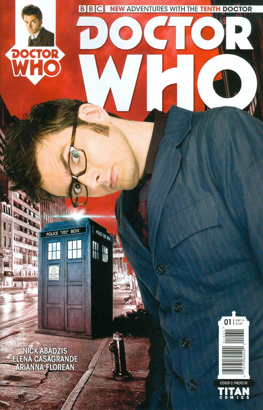Doctor Who 10th Doctor #1 Cover F Incentive Photo Variant Cover