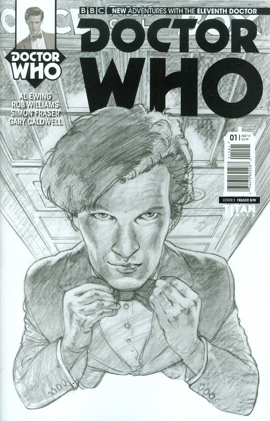 Doctor Who 11th Doctor #1 Cover G Incentive Simon Fraser Sketch Cover