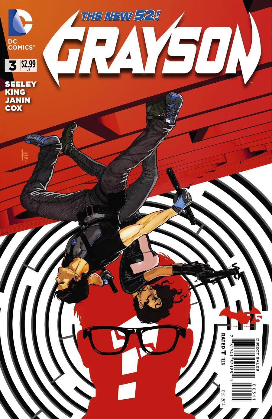 Grayson #3 Cover A Regular Mikel Janin Cover
