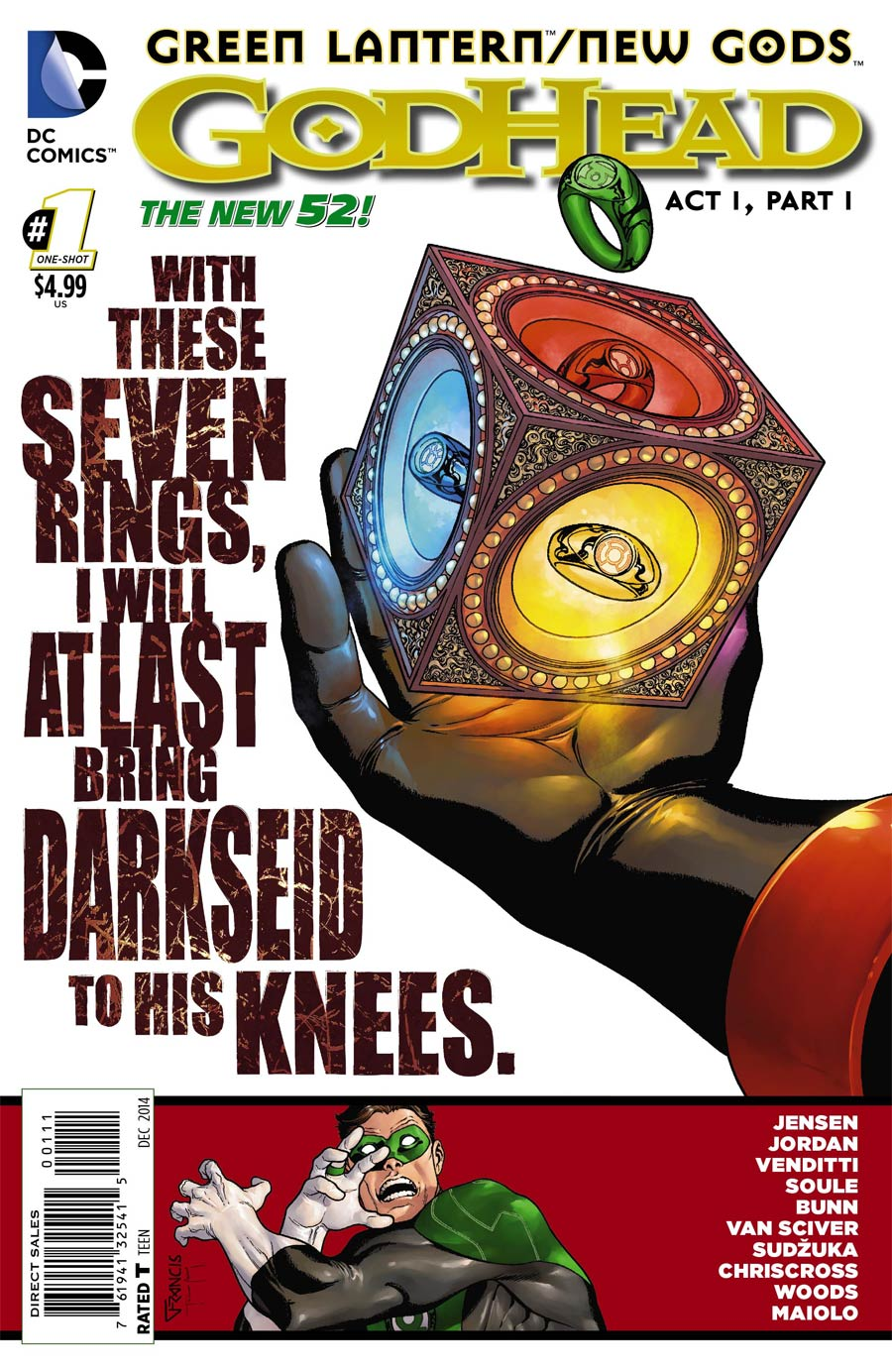 Green Lantern New Gods Godhead #1 Cover A Regular Francis Portela Cover (Godhead Act 1 Part 1)