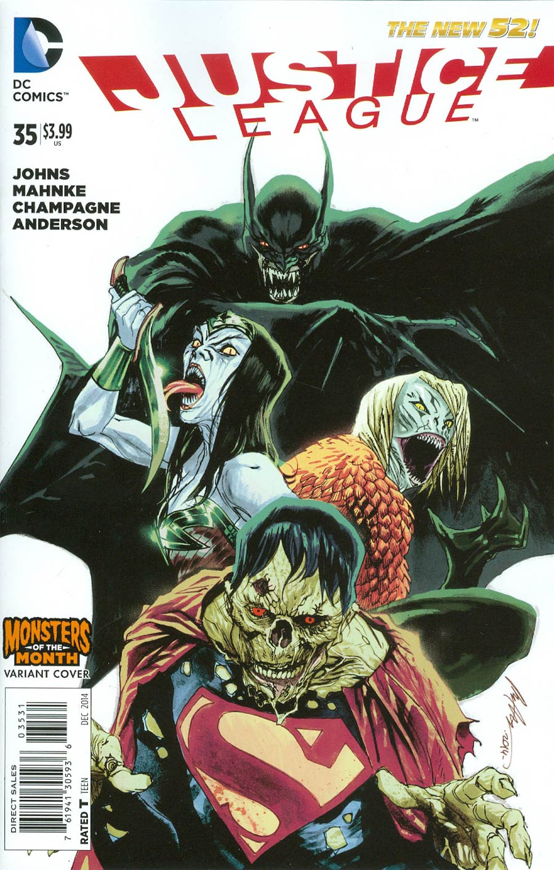 Justice League Vol 2 #35 Cover B Variant Rafael Albuquerque Monsters Cover