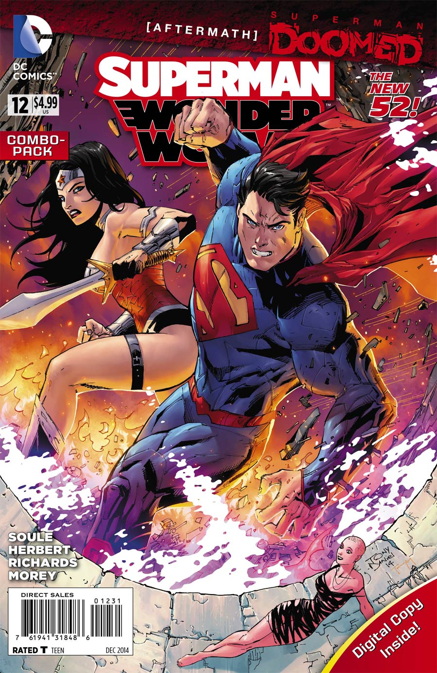 Superman Wonder Woman #12 Cover A Regular Tony S Daniel Cover (Superman Doomed Aftermath)